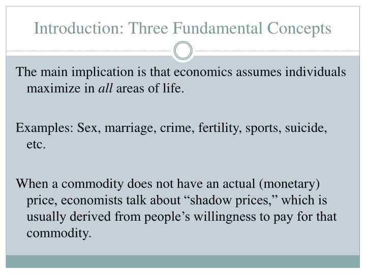 Introduction: Three Fundamental Concepts