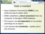 data is needed1