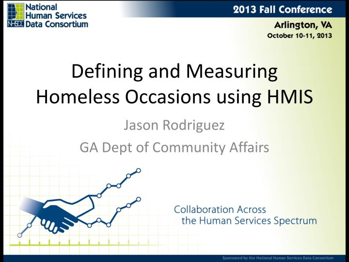 defining and measuring homeless occasions using hmis