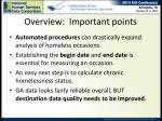 overview important points