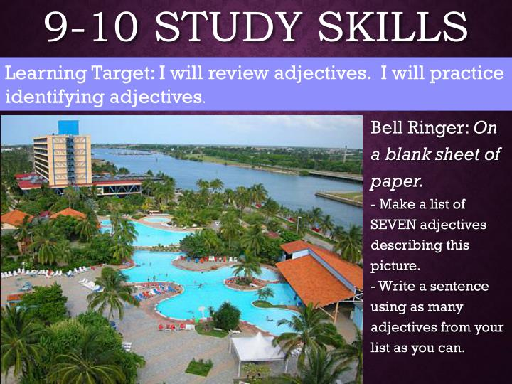 9-10 Study Skills