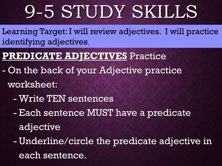 9-5 Study Skills