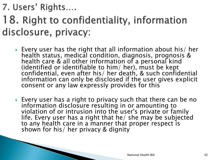 7. Users' Rights….