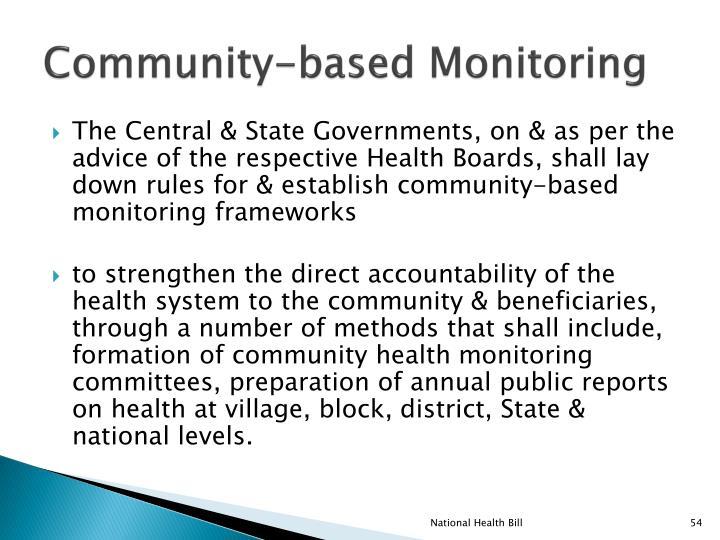 Community-based Monitoring