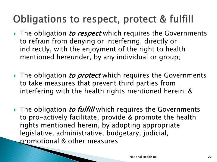 Obligations to respect, protect