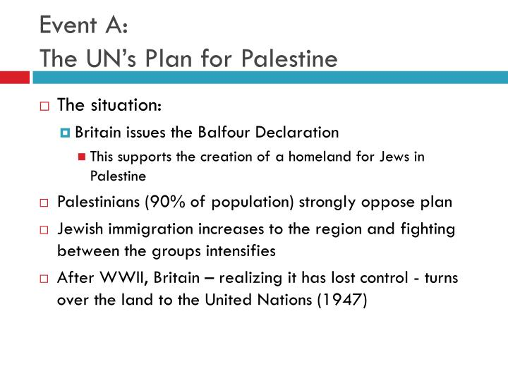 Event a the un s plan for palestine
