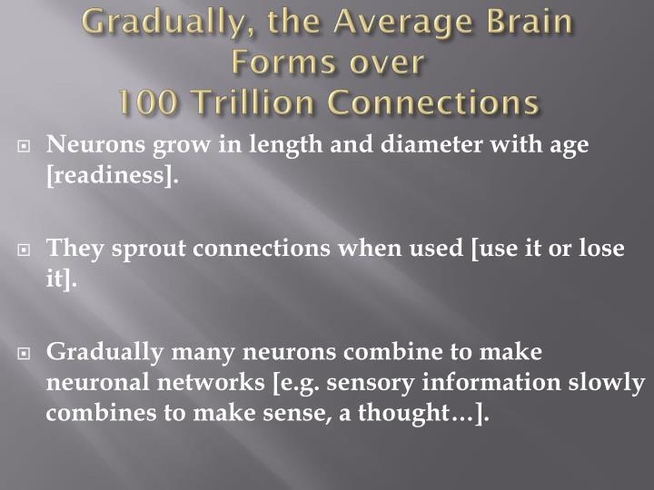 Gradually, the Average Brain Forms over