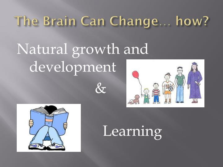 The Brain Can Change… how?