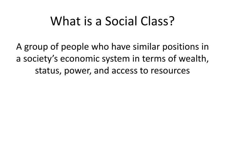 What is a social class
