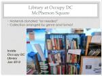 library at occupy dc mcpherson square1