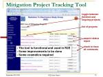 mitigation project tracking tool