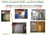 tlds around the lhc e g point 8 right