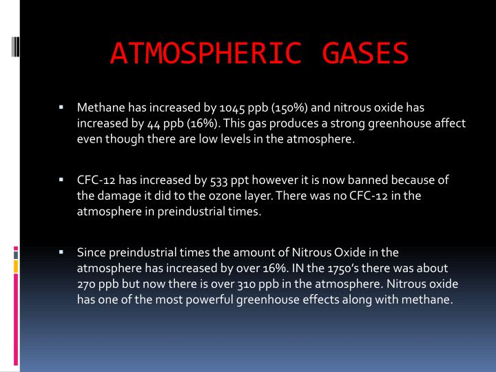 Atmospheric gases1