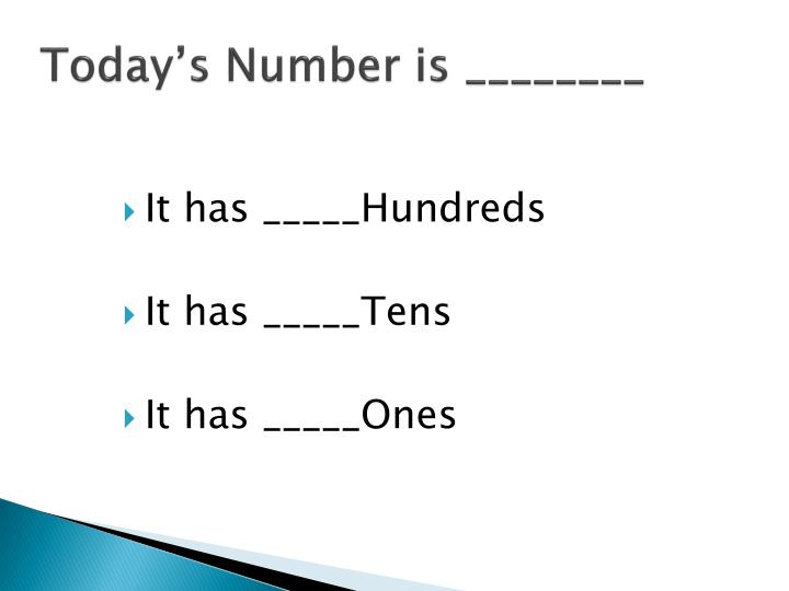 Today s number is