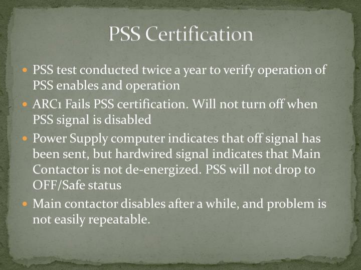 Pss certification