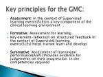 key principles for the gmc