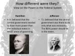 how different were they view on the power in the federal system1