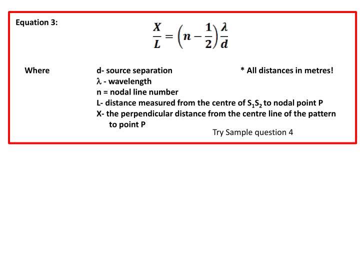 Equation 3: