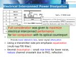 electrical interconnect power dissipation1