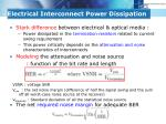 electrical interconnect power dissipation2
