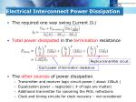 electrical interconnect power dissipation4