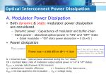 optical interconnect power dissipation1