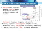 optical interconnect power dissipation4