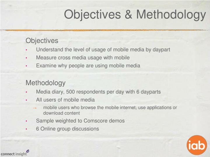 Objectives methodology