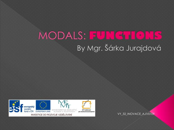 Modals functions