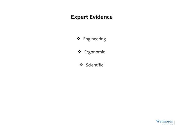 Expert Evidence