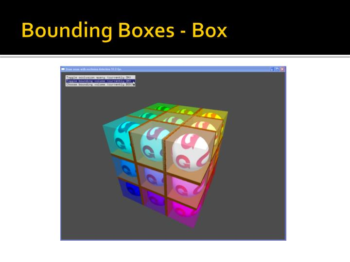 Bounding Boxes - Box