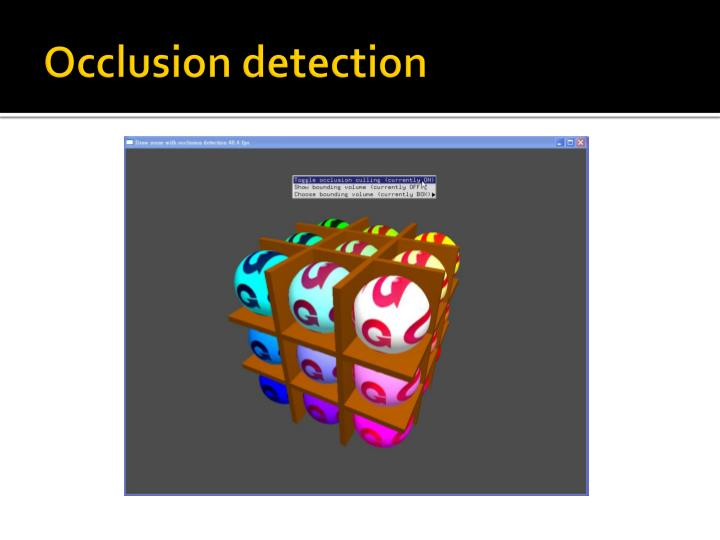 Occlusion detection