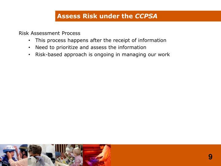 Assess Risk under the