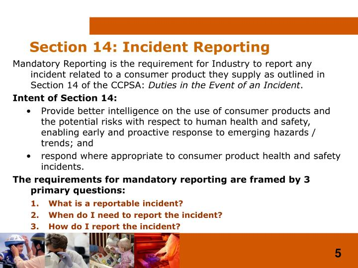 Section 14: Incident Reporting