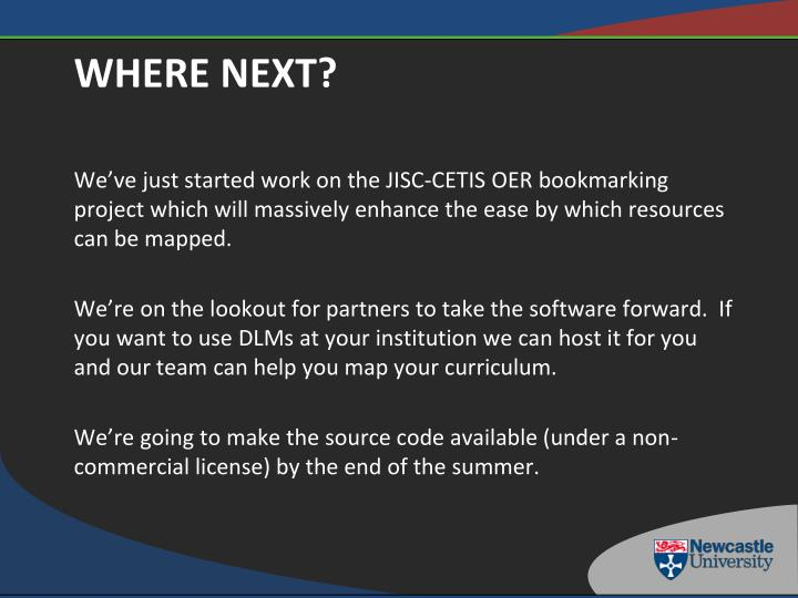 We've just started work on the JISC-CETIS OER bookmarking project which will massively enhance the ease by which resources can be mapped.