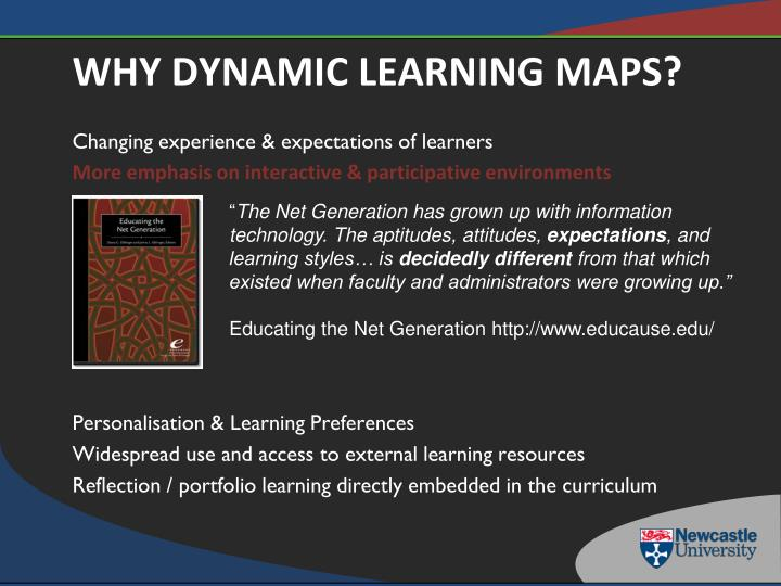 Why dynamic learning maps