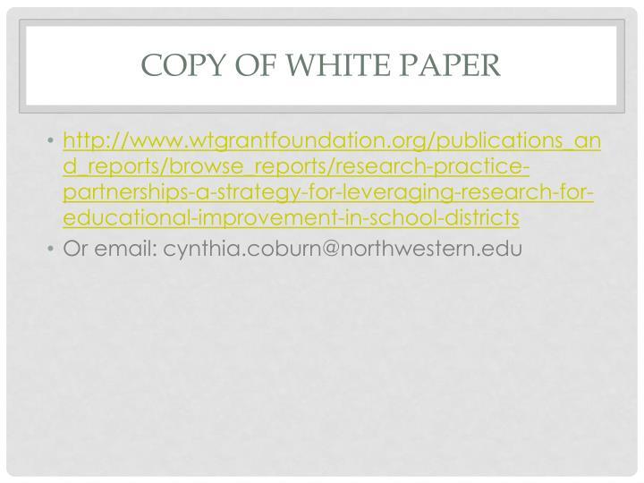 Copy of White paper