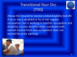 transitional your occ tyo