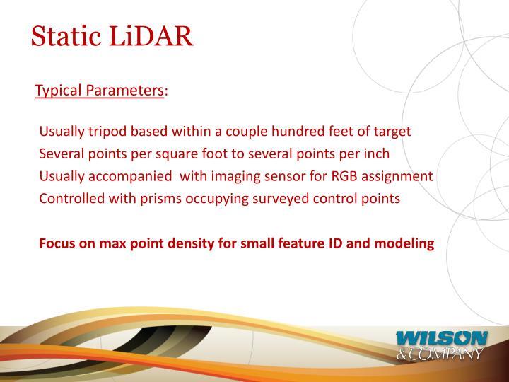 Static LiDAR