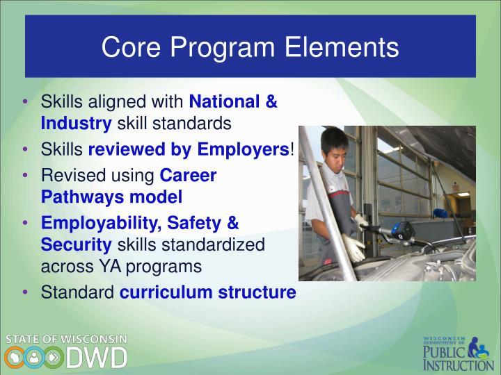 Core Program Elements