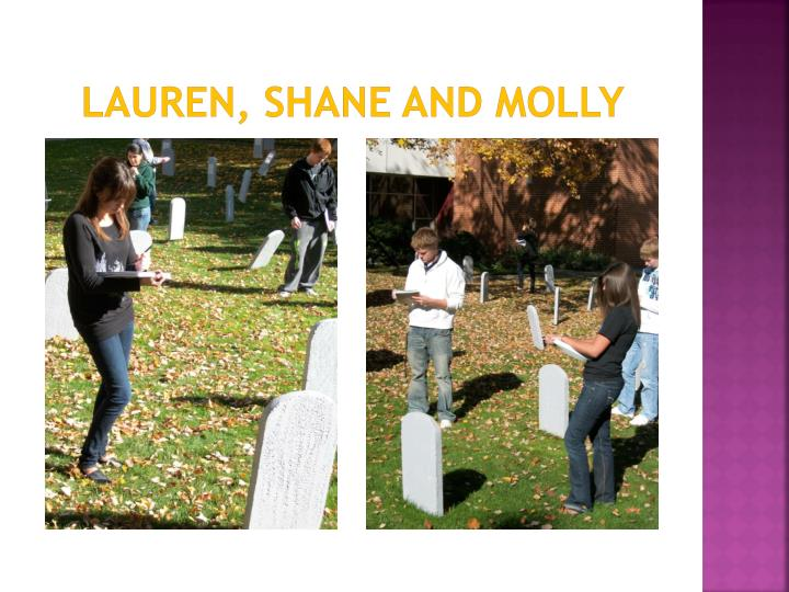Lauren, Shane and Molly