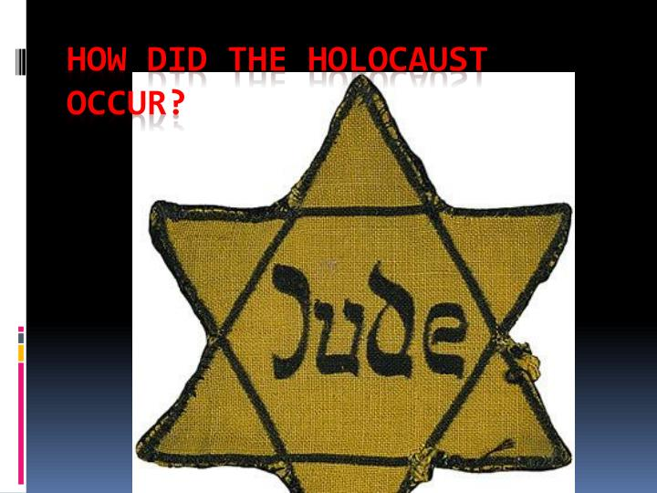 how did the holocaust occur n.