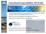 international responsibilities ioc ices