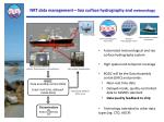 nrt data management sea surface hydrography and meteorology