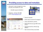 providing access to data and metadata