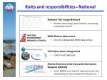 roles and responsibilities national