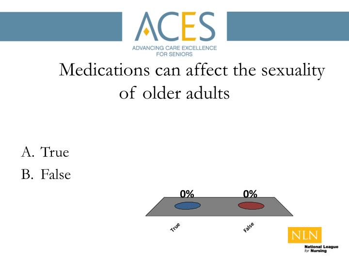 Medications can affect the sexuality of older adults