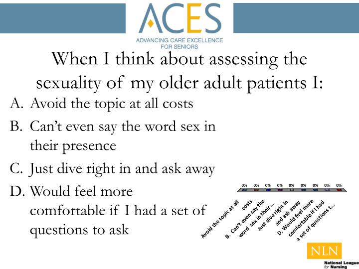 When i think about assessing the sexuality of my older adult patients i