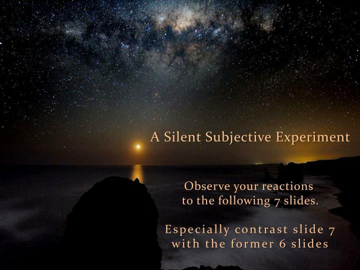 A Silent Subjective Experiment