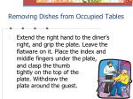 removing dishes from occupied tables1